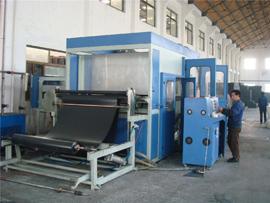 材料源:PVC排水板生产车间