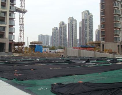 世贸房产PVC排水板施工案例
